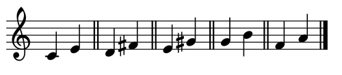 Recognizing Intervals - Major Thirds - do (re) mi