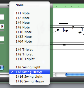Use GarageBands automatic quantizing to fix small mistakes easily