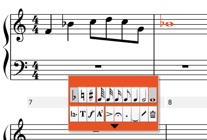 Input notes one-by-one to re-create your score, or create a new composition