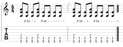Example 2 - Same chords with added dynamics