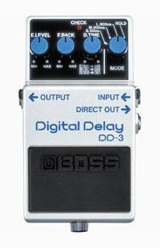 Boss DD-3 Pedal - a classic digital echo