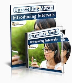 The Introducing Intervals ear training album lets you train with real music!