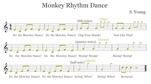 Children's Ear Training - Monkey Rhythm Dance