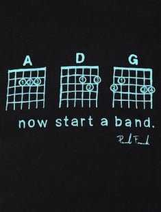 Here's three chords - now start a band! (Image: Paul Frank)