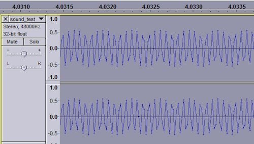The MP3 version of the mosquito 15kHz tone (viewed in Audacity)