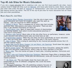 Top 40 Site List For Music Educators