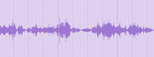 Waveform of original audio recording for Creepy Whisper FX