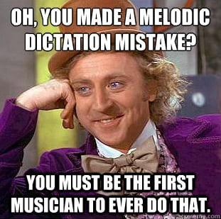 Wonka knows: musicians make mistakes