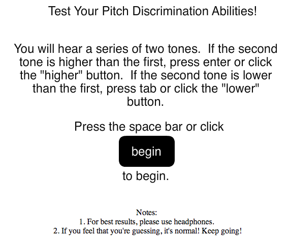 Pitch Discrimination Test