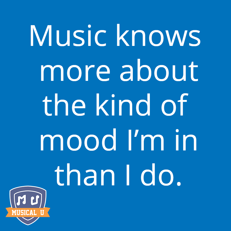 Music knows more about the mood