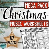 Christmas worksheets mega pack