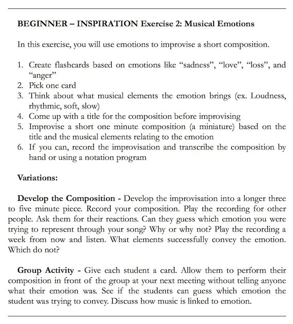 Example Inspiration Exercise