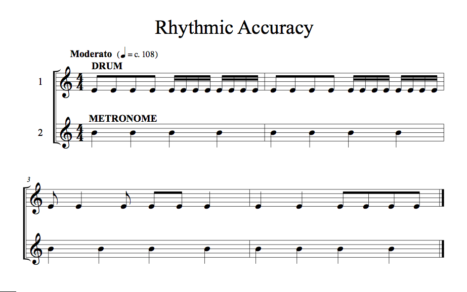 Rhythmic Accuracy 1 Drum EX1