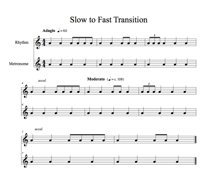 Transition Practice Slow to Fast