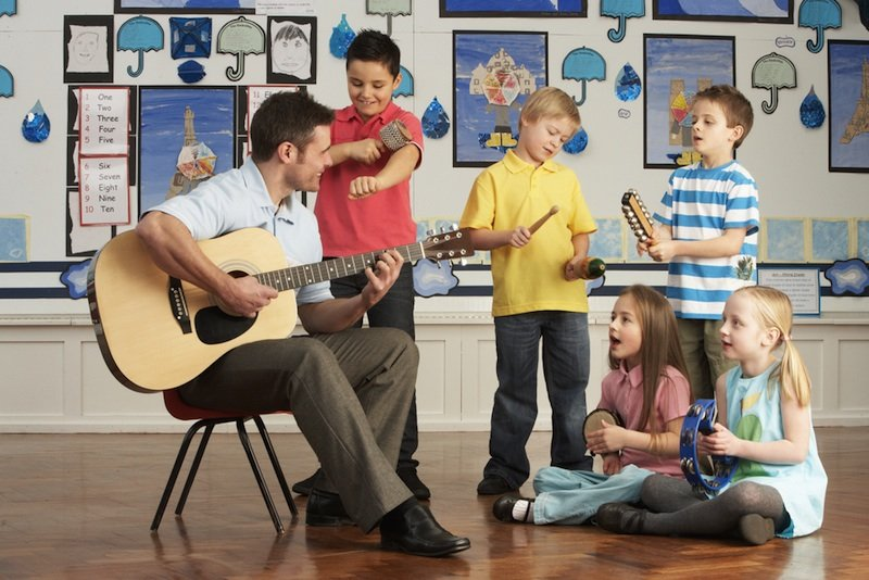 Children's music lesson
