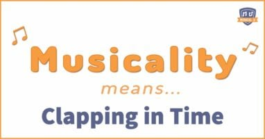 Musicality means clapping in time
