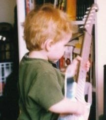 Toddler Dylan Welsh with Guitar