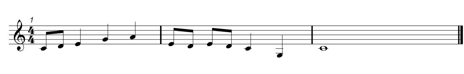 Pentatonic Solfa Melody 1 Score 1