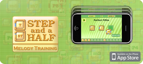 Step and a Half: Melody Training iOS app