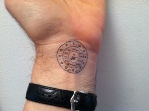 Press on Circle of Fifths Tattoo, from Sokolow Music