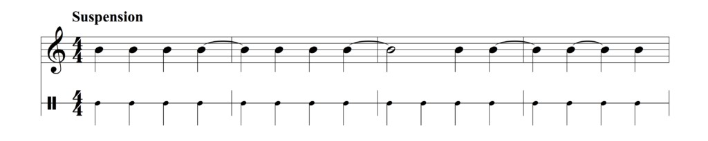 Example of suspension syncopation