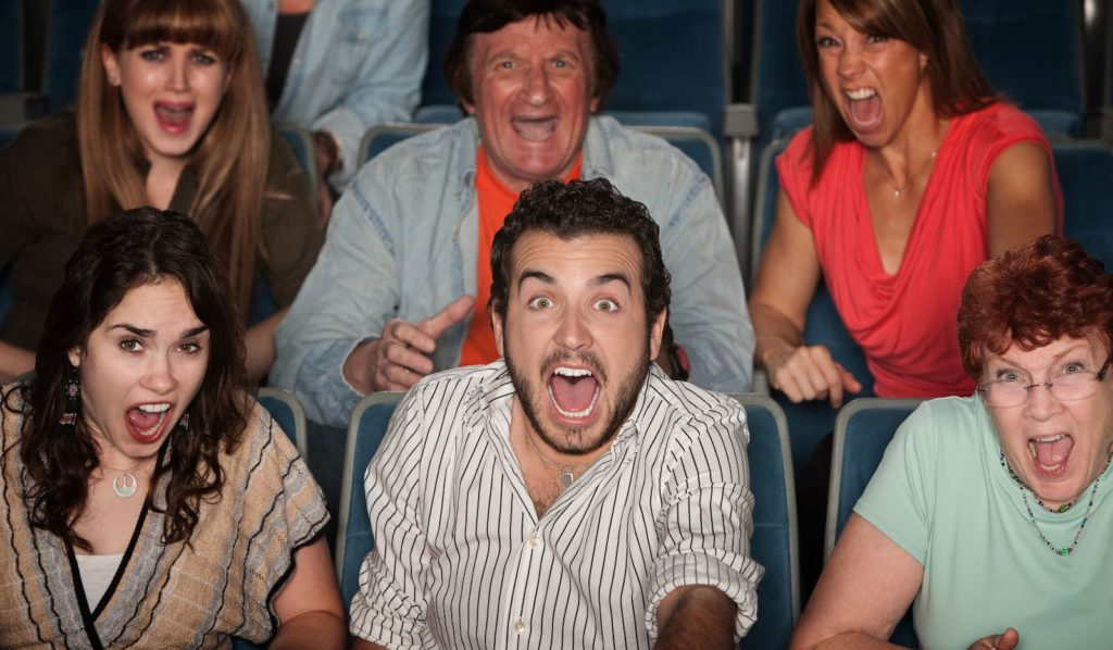 Terrified audience