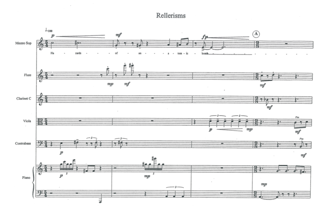 Rellerisms, a song created from text in a science textbook, for a song challenge