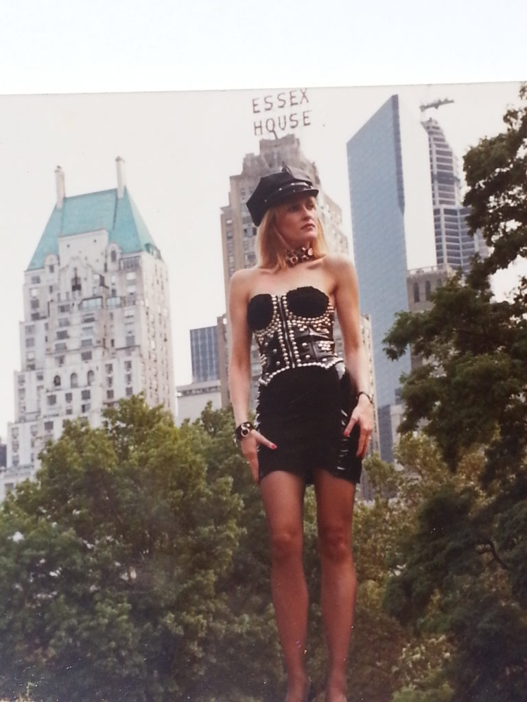 Diane Mozzone modelling in New York City