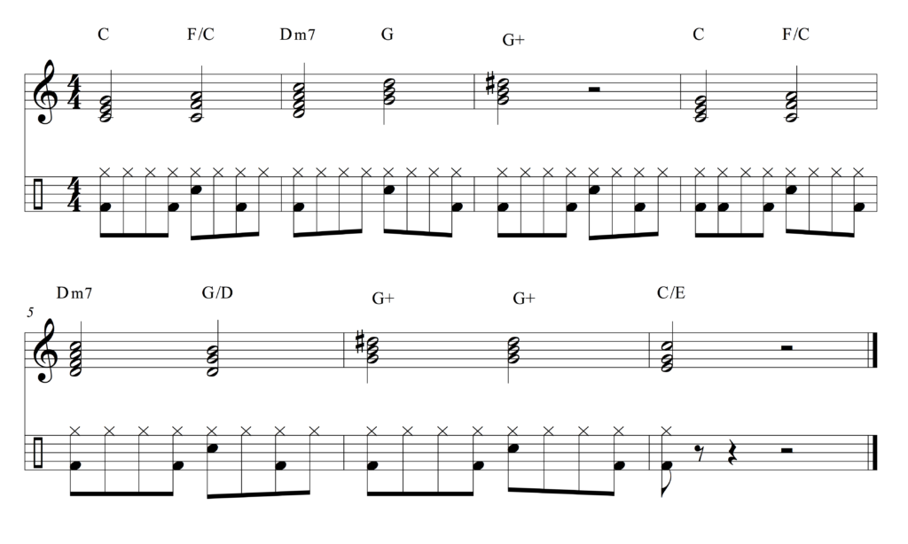 The Beatles augmented chords