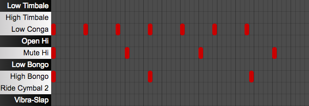 Online sequencer for polyrhythms