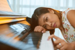 piano student feeling lost and without inpiration.
