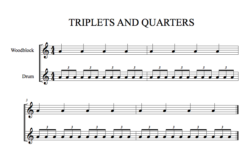 Triplets and Quarter Notes