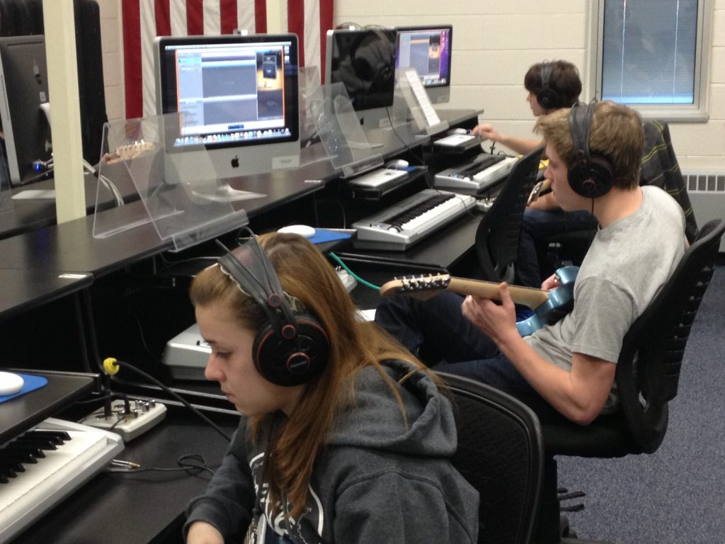 Music Technology students working