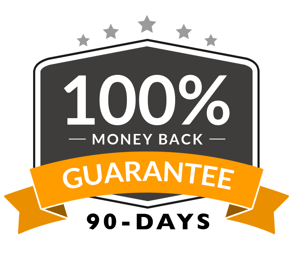 90-Day 100% Money-Back Guarantee