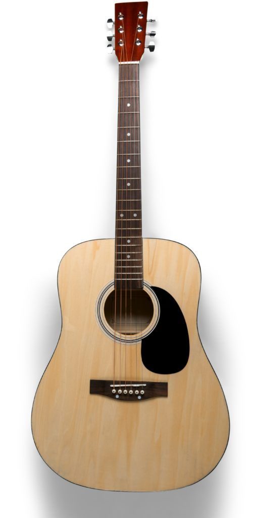 Dreadnought acoustic guitar shape