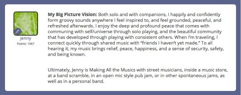 Jenny's big picture vision